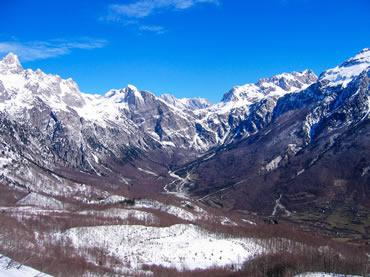 Les alpes albanaise